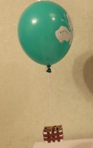 воздушный шар поделка