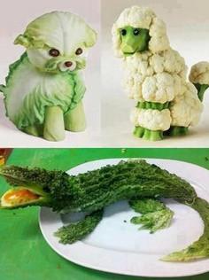 веселая еда-цветная капуста