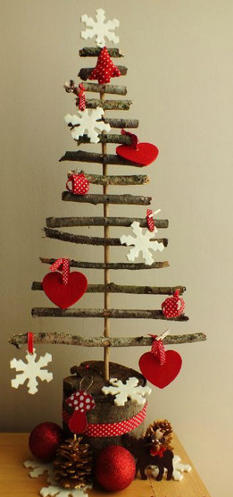 елка из палочек