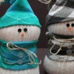 Снеговик из носка. Мастер класс