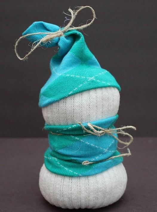 снеговик из носка4
