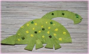 динозавр поделка