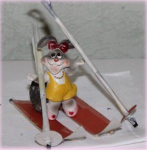 лыжи для игрушки