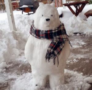 снеговик медведь