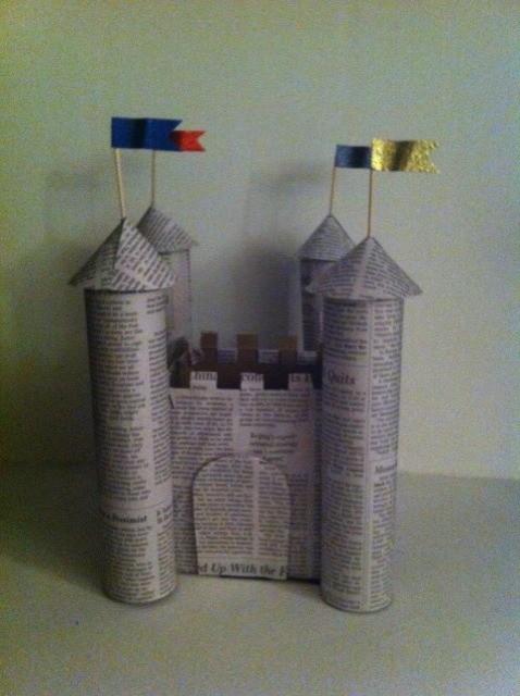Замки из бумаги для детей Как