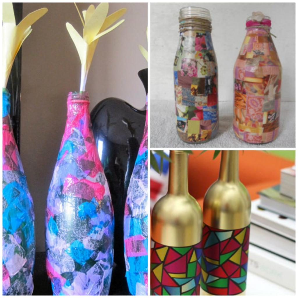 вазы из цветной бумаги
