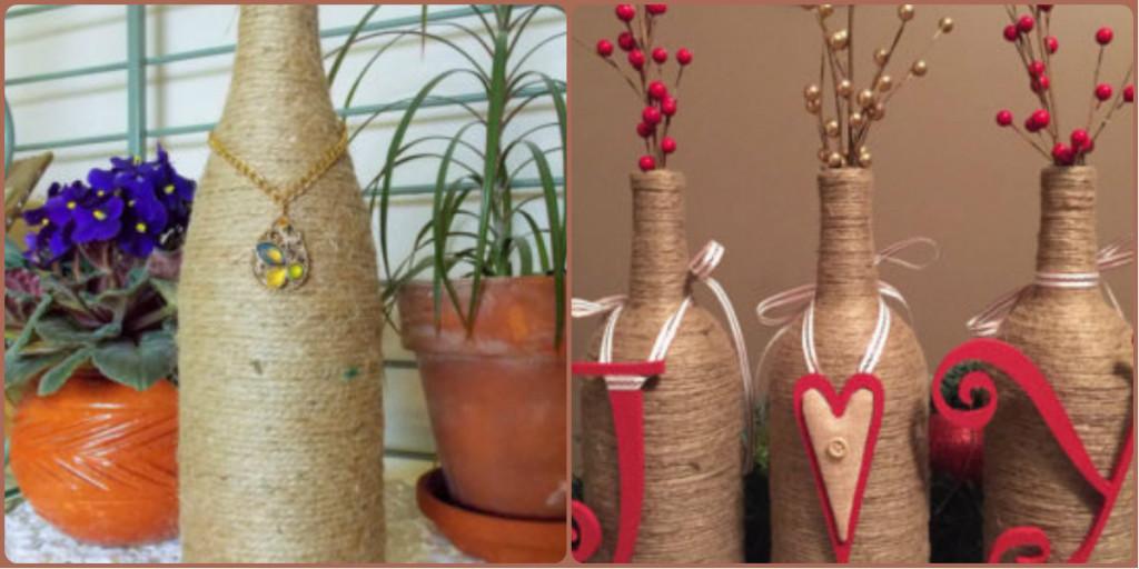 вазы обмотанные нитью